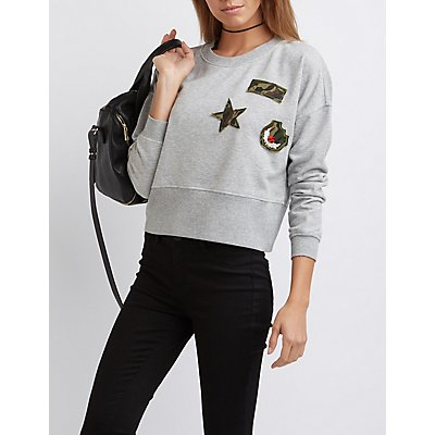Patched Skimmer Sweatshirt