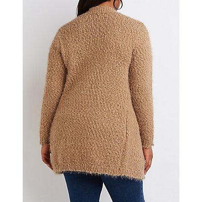 Plus Size Fuzzy Oversized Cardigan