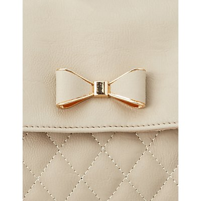 Quilted Bow Tie Crossbody Bag