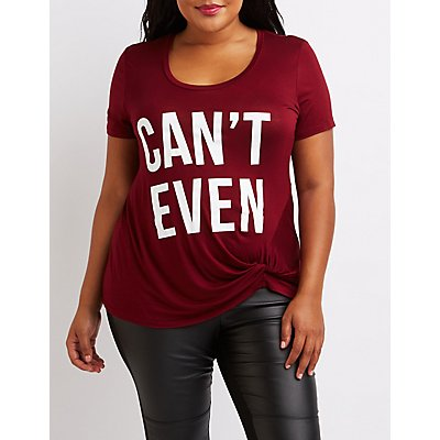 Plus Size Can't Even Graphic Tee