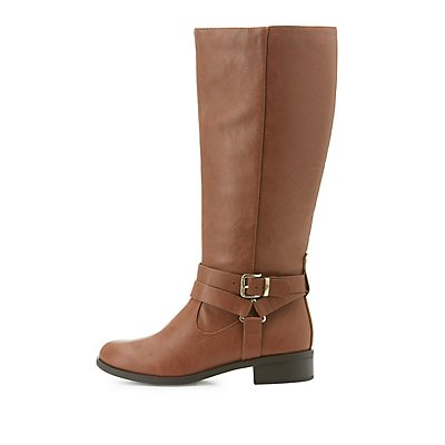 Harness Strap Riding Boots
