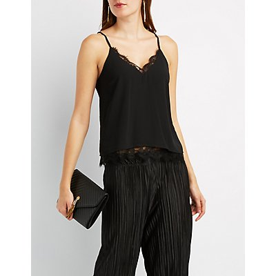 Strappy Lace-Trim Camisole Top