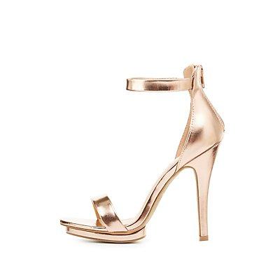 Strappy Metallic Dress Sandals