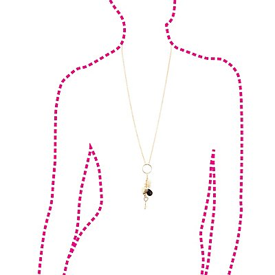 Plus Size Charm Drop Necklace
