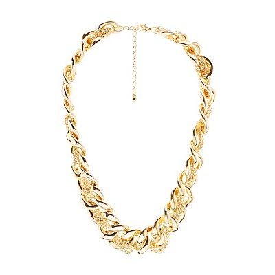 Plus Size Braided Chainlink Necklace