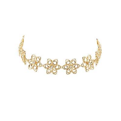 Plus Size Floral Choker Necklace