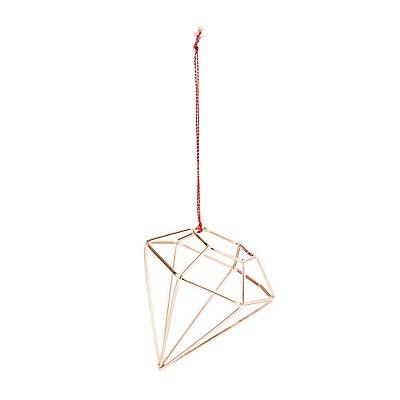 Rose Gold Diamond Ornament