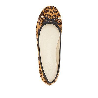 Leopard Bow Ballet Flats