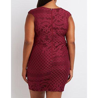 Plus Size Crochet Sheath Dress
