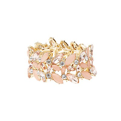 Embellished Stretch Cuff Bracelet