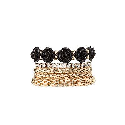 Plus Size Embellished Layering Bracelets