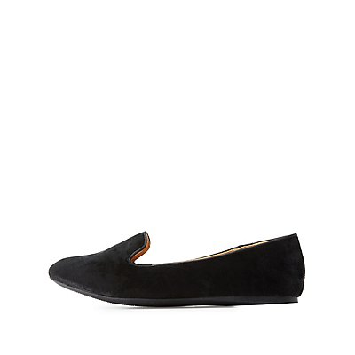 Bamboo Velvet Pointed Toe Loafers