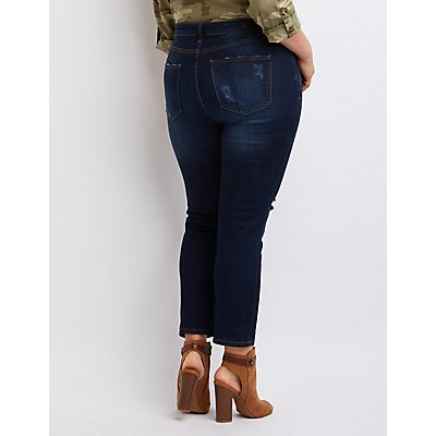 Plus Size Cello Destroyed Boyfriend Jeans