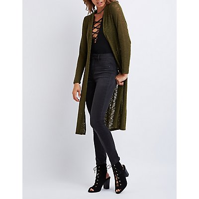 Slub Knit Duster Cardigan