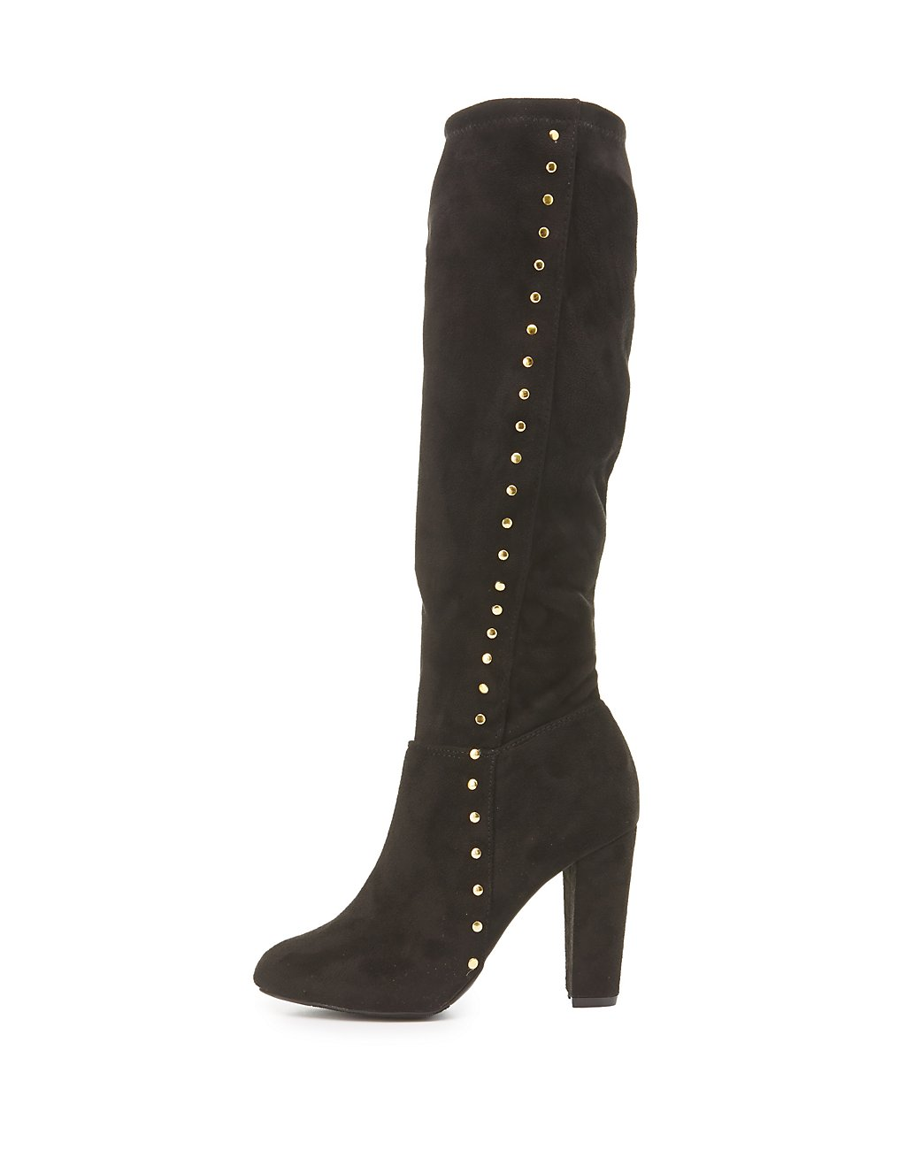 Studded Knee-High Boots | Charlotte Russe