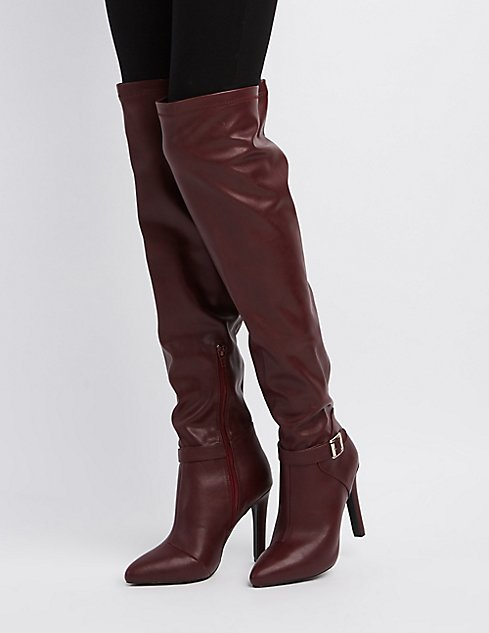 Qupid Pointed Toe Over-The-Knee Boots | Charlotte Russe