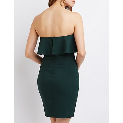 Strapless Ruffle Bodycon Dress