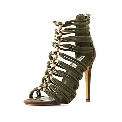 Strappy Embellished Dress Sandals