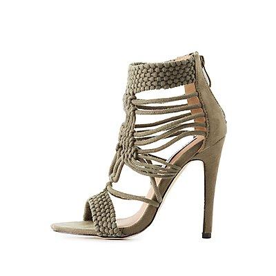 Woven Macrame Dress Sandals