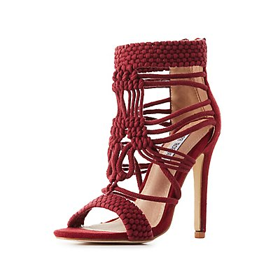 Woven Macrame Dress Sandals