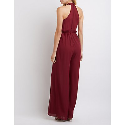 Crossover Split Leg Jumpsuit