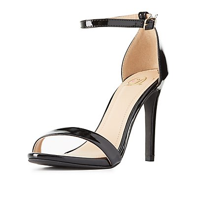 Patent Two-Piece Dress Sandals