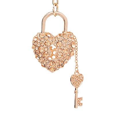 Embellished Heart Keychain