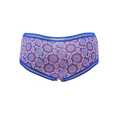 Plus Size Mesh-Trim Cheeky Panties