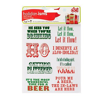 Holiday Drink Decals - 16 Pack