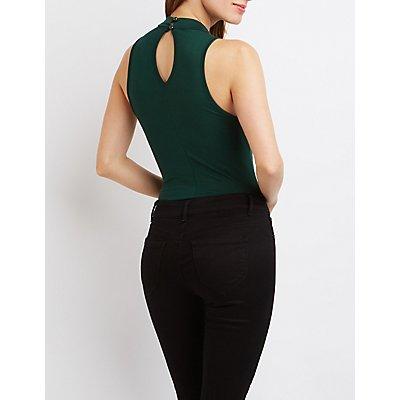 Mock Neck T-Strap Bodysuit