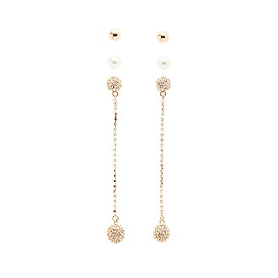 Drop & Stud Earrings Set