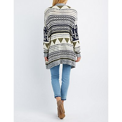 Tribal Boyfriend Pocket Cardigan