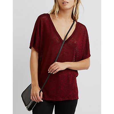 Lattice-Back Hacci Tee