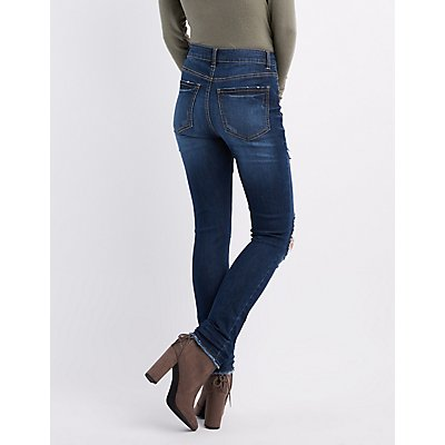 Refuge Hi-Rise Skinny Destroyed Jeans