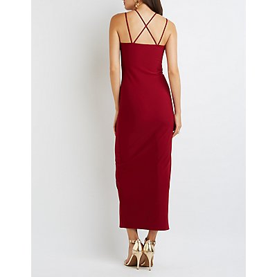 Strappy Sweetheart Maxi Dress