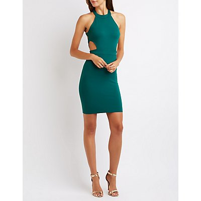 Strappy Open Back Bodycon Dress