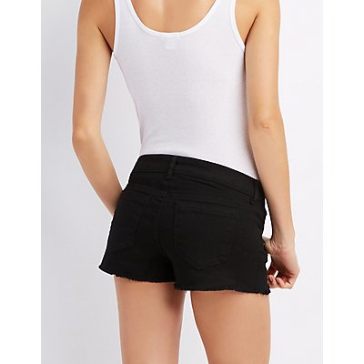 Refuge Super Shortie Cut-Off Shorts