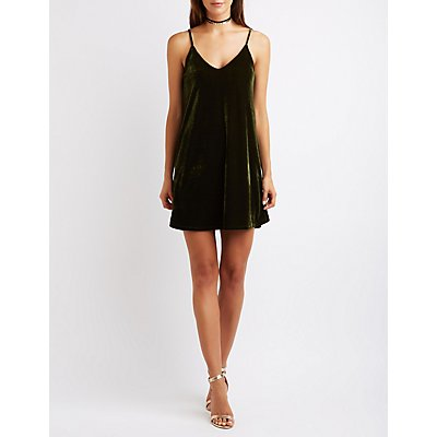 Velvet Bar Back Shift Dress