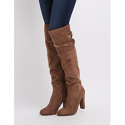 Belted Over-The-Knee Boots