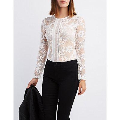 Sheer Mesh & Lace Bodysuit