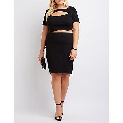 Plus Size Cut-Out Bodycon Dress