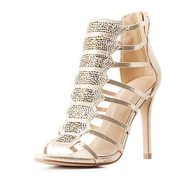 Embellished Strappy Dress Sandals