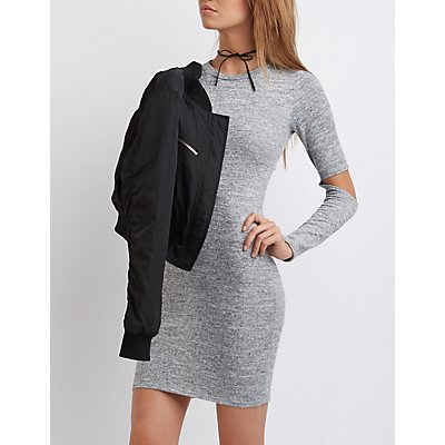 Cut-Out Sleeve Bodycon Dress