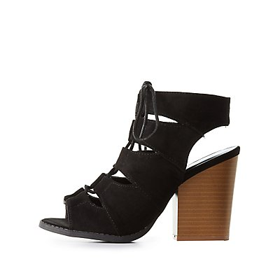 Lace-Up Heels & Strappy Sandals | Charlotte Russe