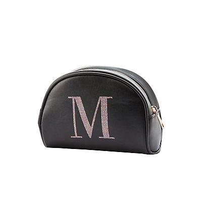 Initial M Zip Bag