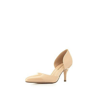 Pointed Toe D'Orsay Kitten Heel Pumps