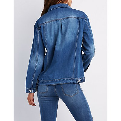 Destroyed Denim Boyfriend Jacket