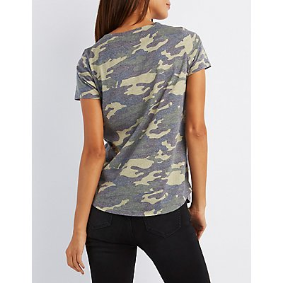 Camo Boyfriend Pocket Tee
