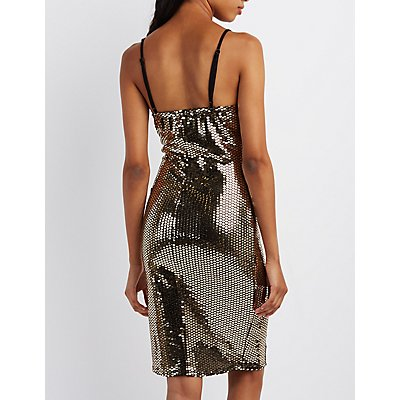Mirrored Sequin Bodycon Dress