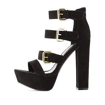 Qupid Chunky Platform Sandals